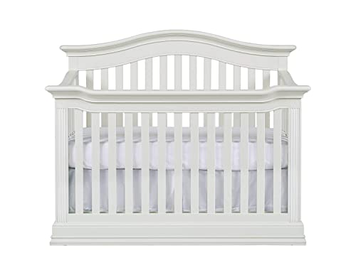 Baby Cache Montana 4 in 1 Convertible Crib in Glazed White