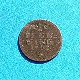 1791 DE German States Lippe Detmold 1 Pfennig Coin Fine Details