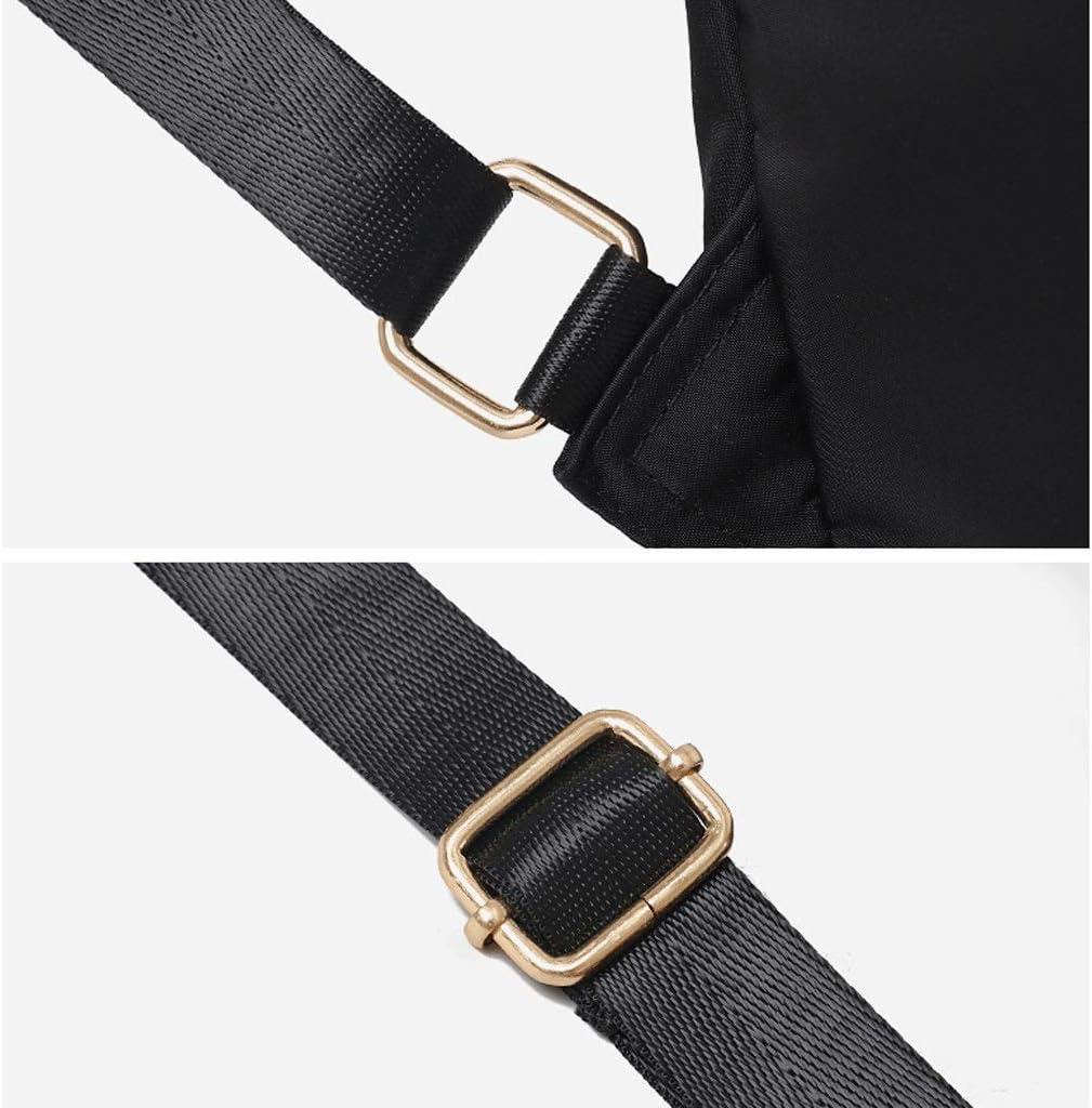 Backpack LCSHAN Unisex Shoulders Simple Fashion Leather Oxford Cloth Leisure Travel Bag Color : Black