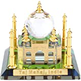 Pssopp Taj Mahal Miniature Model Muslim Crystal Gilded Taj Mahal Souvenir Replcia Mosque Indian Building Model Indian…