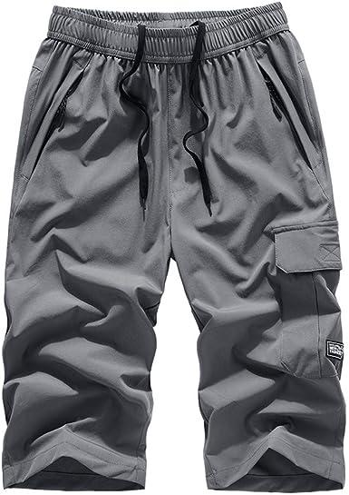 Herren Cargohose Shorts Knielang Hose Arbeitshose Bermudas Kurzhose Freizeithose