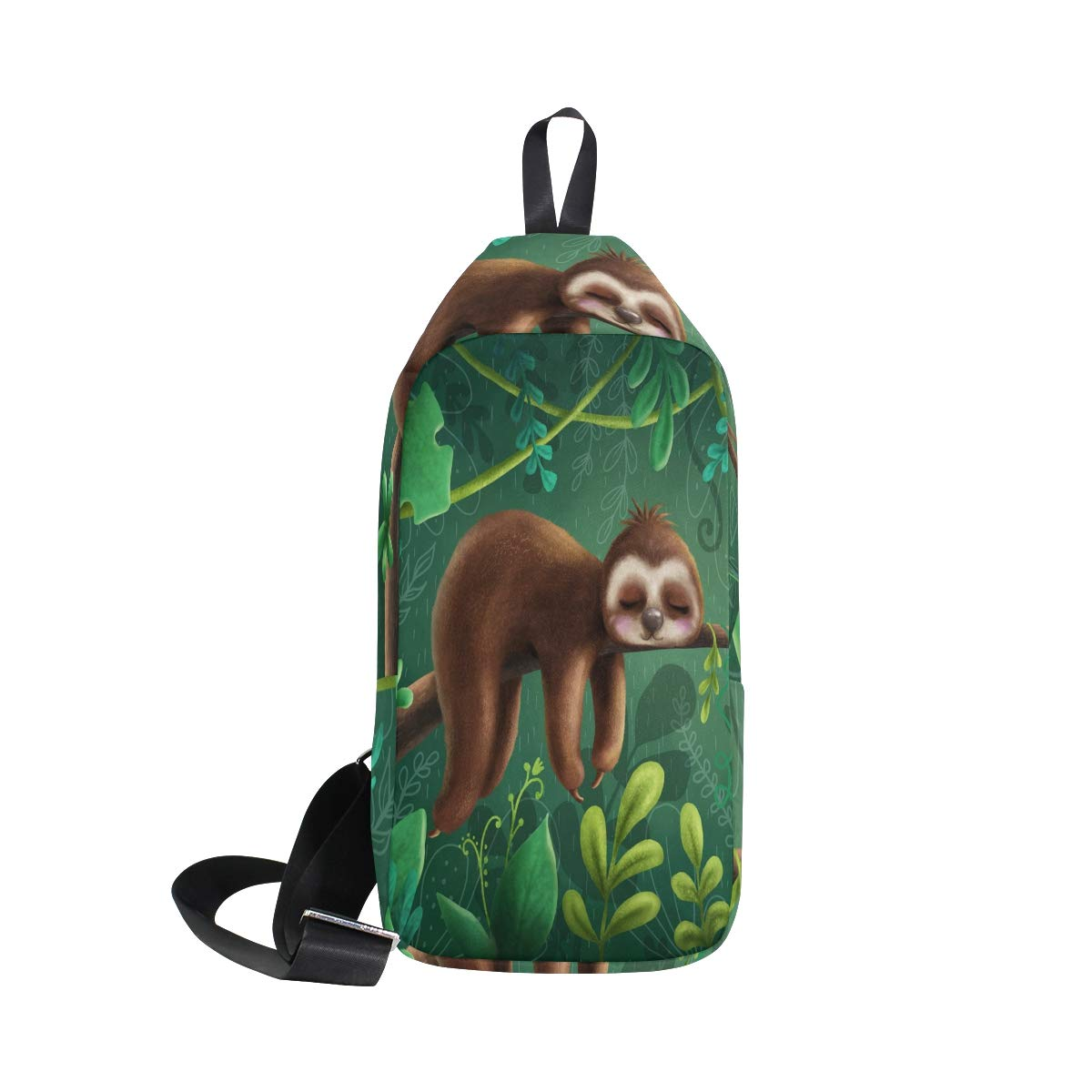 TFONE Cute Lazy Sloth Crossbody Bag Lightweight Chest Shoulder Messenger Pack Backpack Sling Bag