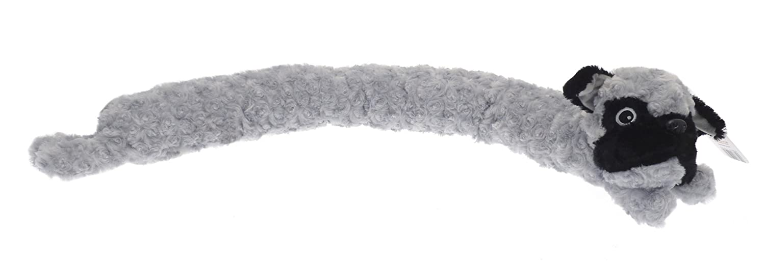 Country Club Smart Pets Microfleece Draught Excluder, Grey Dog Beamfeature