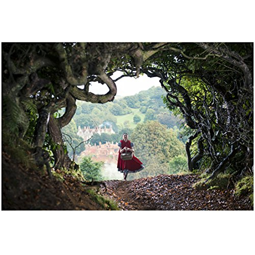 still-of-lilla-crawford-as-little-red-riding-hood-walking-down-forest-lane-in-into-the-woods-8-x-10-