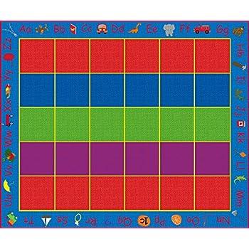 Amazon Com Kid Carpet Fe701 56a Abc Rainbow Seating Nylon