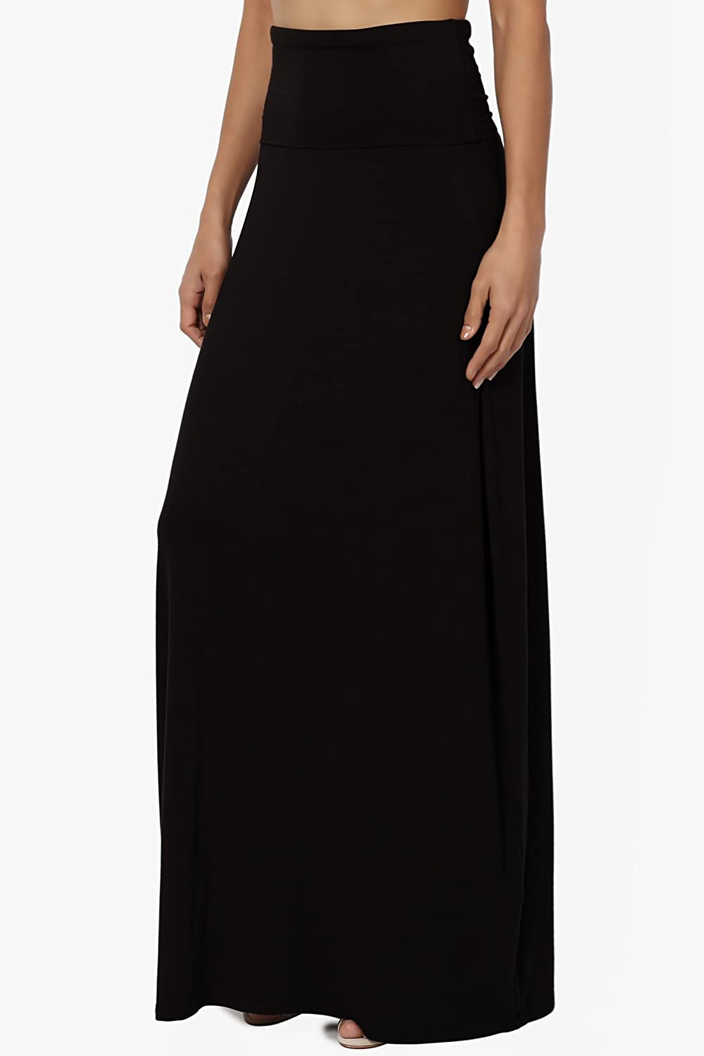 6bc9bf9c4a8 TheMogan S~3XL Women s Casual Lounge Solid Draped Jersey Relaxed Long Maxi  Skirt at Amazon Women s Clothing store