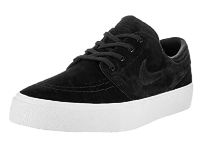 NIKE Men's Zoom Stefan Janoski Prem HT Black/Black-White Low Top Suede  Skateboarding