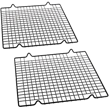 Amazon Com Cosmos Pack Of 2 Non Stick Baking Cooling Rack