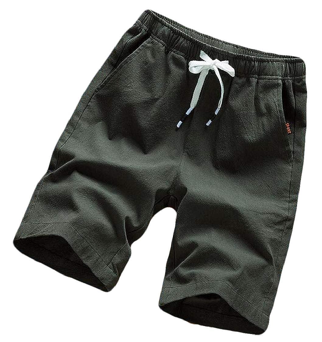 Nanquan Men Big /& Tall Stretch Outwear Open-Bottom Casual Beach Shorts Boardshort Swim Trunk