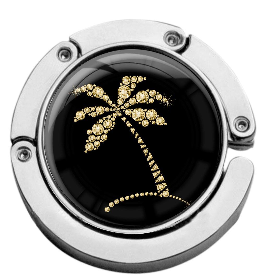 metALUm Taschenaufhänger in runder Form Palme in Gold 2601147
