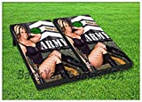 VINYL WRAPS Cornhole Boards DECALS Sexy Army Girl Bag Toss Game Stickers136