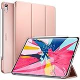 ESR iPad Pro 11 ケース Apple Pencilのペアリングとワイヤレス充電対応 iPad Pro 11 カバー 軽量 薄型 PUレザー 三つ折スタンド オートスリープ機能 2018年秋発売のiPad Pro 11インチ専用(マット・ローズゴールド)