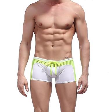 eff5fc60b804c La Cabina Homme String Slip Maillots de Bain Shorts de Bain Underwear  Collant Culotte Confortable Multicolore
