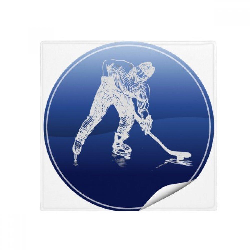 DIYthinker Winter Sport Skating and Ice Hockey Watercolor Anti-Slip Floor Pet Mat Square Home Kitchen Door 80Cm Gift