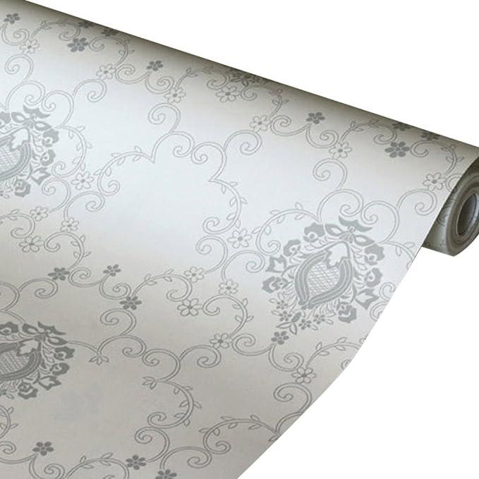 2/m beige Paisley floreale adesivo in plastica pellicola in vinile PVC carta da parati Fablon autoadesivi