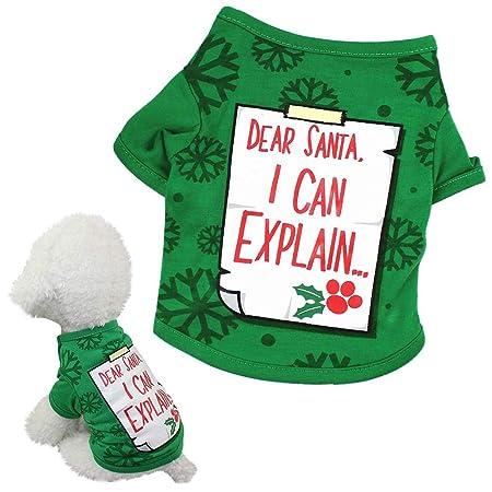 BeiYuSdBb - Disfraz de Navidad para Mascotas, diseño con Texto en ...