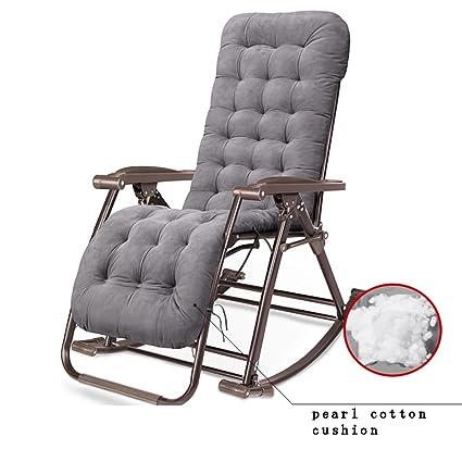 Amazon.com: GJM Shop Silla reclinable de tela de textileno ...