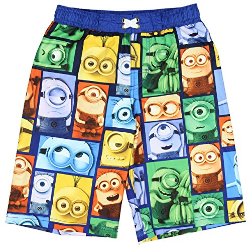 Despicable Me Minions Blocks Boardshorts Swim Trunks - Small (Swimming Merchandise compare prices)