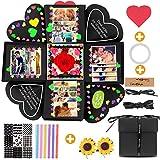 SMAtech Creative Explosion Gift Box,Love Memory DIY Handmade Photo Album Scrapbook, Photo Album Box, as Birthday Gift, Anniversary Gifts, Wedding or Valentine's Day Surprise Box (Black)