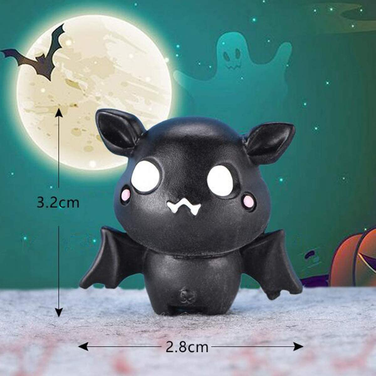 Fairy Tale Garden Toy Collection Cake Topper Miniature Landscape Pupdoge 10 Pcs Miniature Halloween Figurines,5 Styles,Lovely Resin Classic Cartoon Characters Collection Halloween Theme Doll House