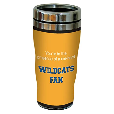 16 Ounce Tree-Free Greetings sg24753 Wildcats College Basketball Sip N Go Stainless Steel Lined Travel Tumbler