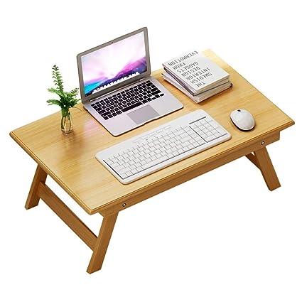 YFUIOVX Mesa Plegable Cama Bambú Computadora Tabla del Ordenador portátil, Multifuncional Dormitorio Haragán Comedor Aprender