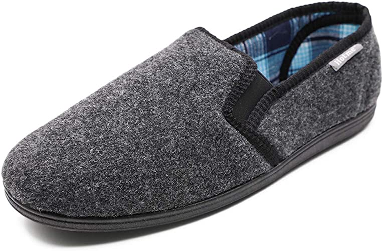 size: 6-13 MENS HOUSE SHOES house slippers Navy//Plaid Insole