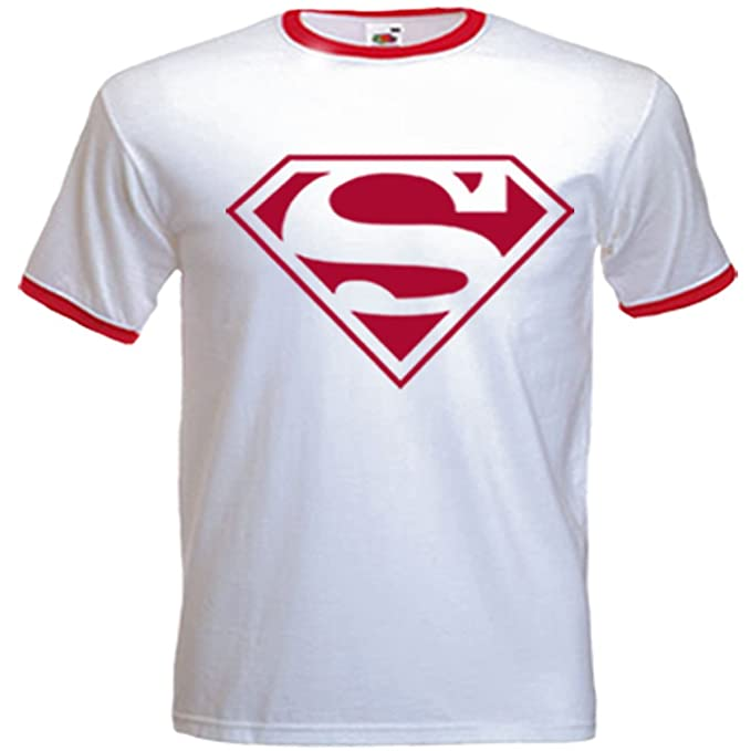 Amazon Urban Shaolin Mens Superman Retro Logo Inspired T Shirt