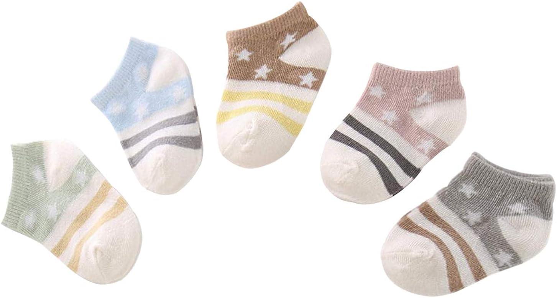 DEBAIJIA 5 Pares de Calcetines de Algodón para Bebé Calcetines ...