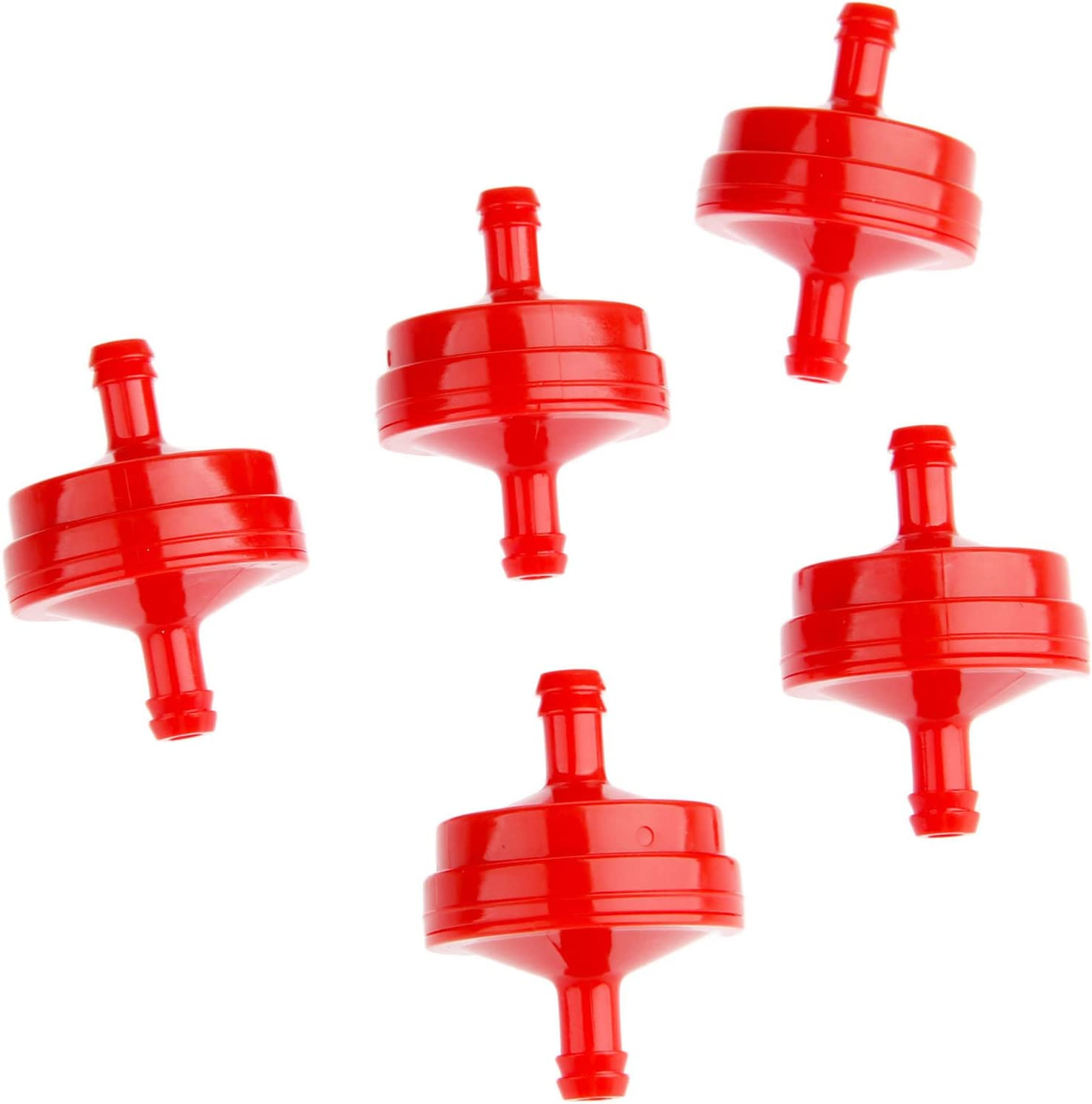 Mtsooning 2 Pcs Inline In Line Fuel Filter Lawn Mower Red for 298090 298090S Briggs and Stratton