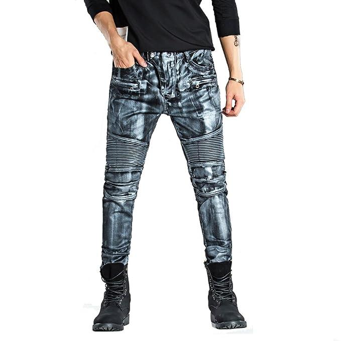Homme Denim Homme sSkinny Vintage 2018 Fashion Distressed Jeans Fit qYwtCpd b7d5bce0cd47