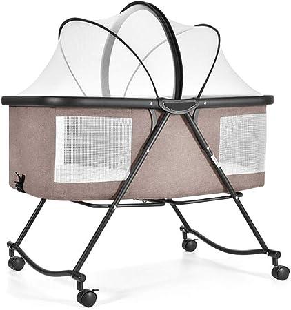 Babywippen Tragbare Klappbare Schaukelwiege Kinderbett Mit Abnehmbarer Matratze 3 Teiliges Wiegenbettwascheset Fur Jungen Und Madchen Color Brown Amazon De Kuche Haushalt