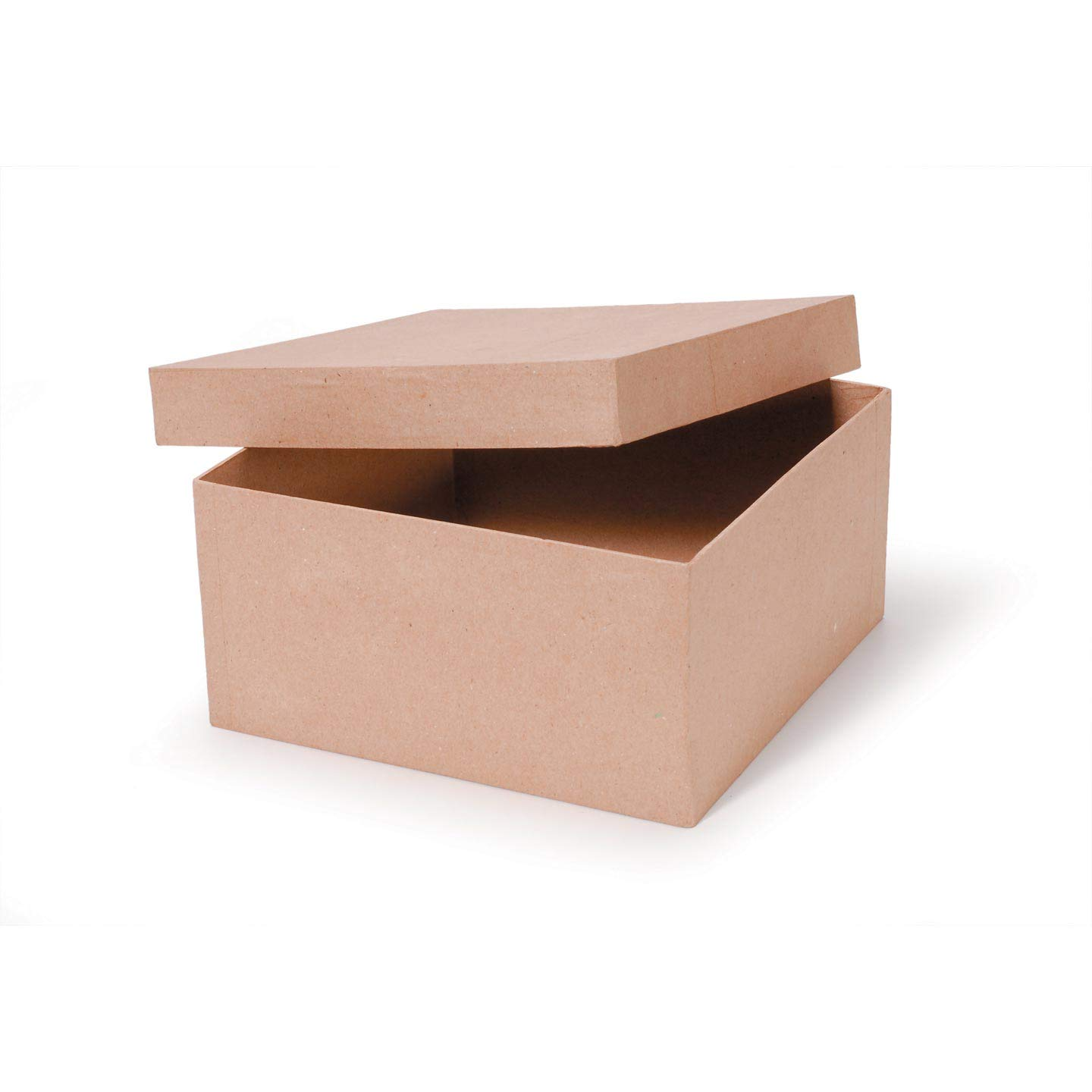 Bulk Buy: Darice DIY Crafts Paper Mache Box Square 10 x 10 x 5 in (2-Pack) 2805-41FCAL Inc. 4336884757