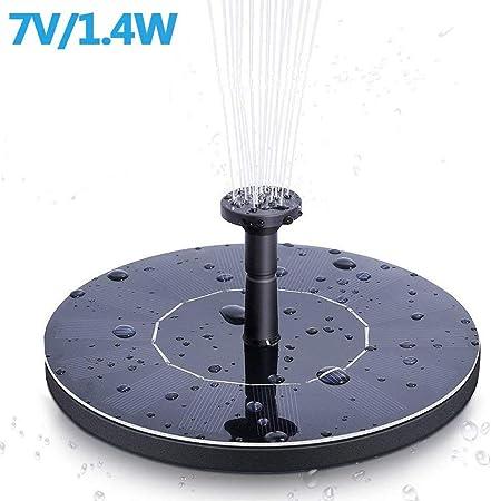 YOHAPPY Bomba de Agua Solar para Fuente de jardín, 1,4 W, Bomba de Agua Solar para pecera, pájaros, Estanque, Piscina, decoración de jardín: Amazon.es: Hogar