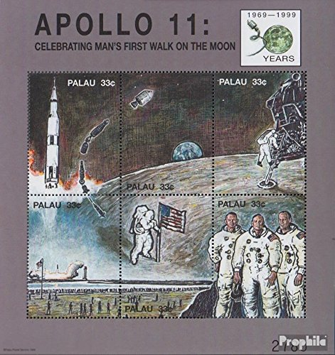 Palau-Islands 1540-1545 Sheetlet (complete issue) 1999 Moon Landing (Stamps for collectors) Space