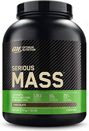 Proteine in polvere optimum nutrition serious mass gainer,whey per aumentare la massa muscolare con creatina, 1101537