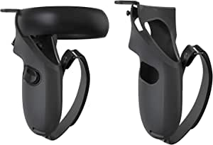 KIWI design Grip Cover for Oculus Quest 1 or Rift S Touch Controller Grip Accessories Anti-Throw Handle Protective Sleeve with Adjustable Hand Strap (Not for Oculsu Quest 2)