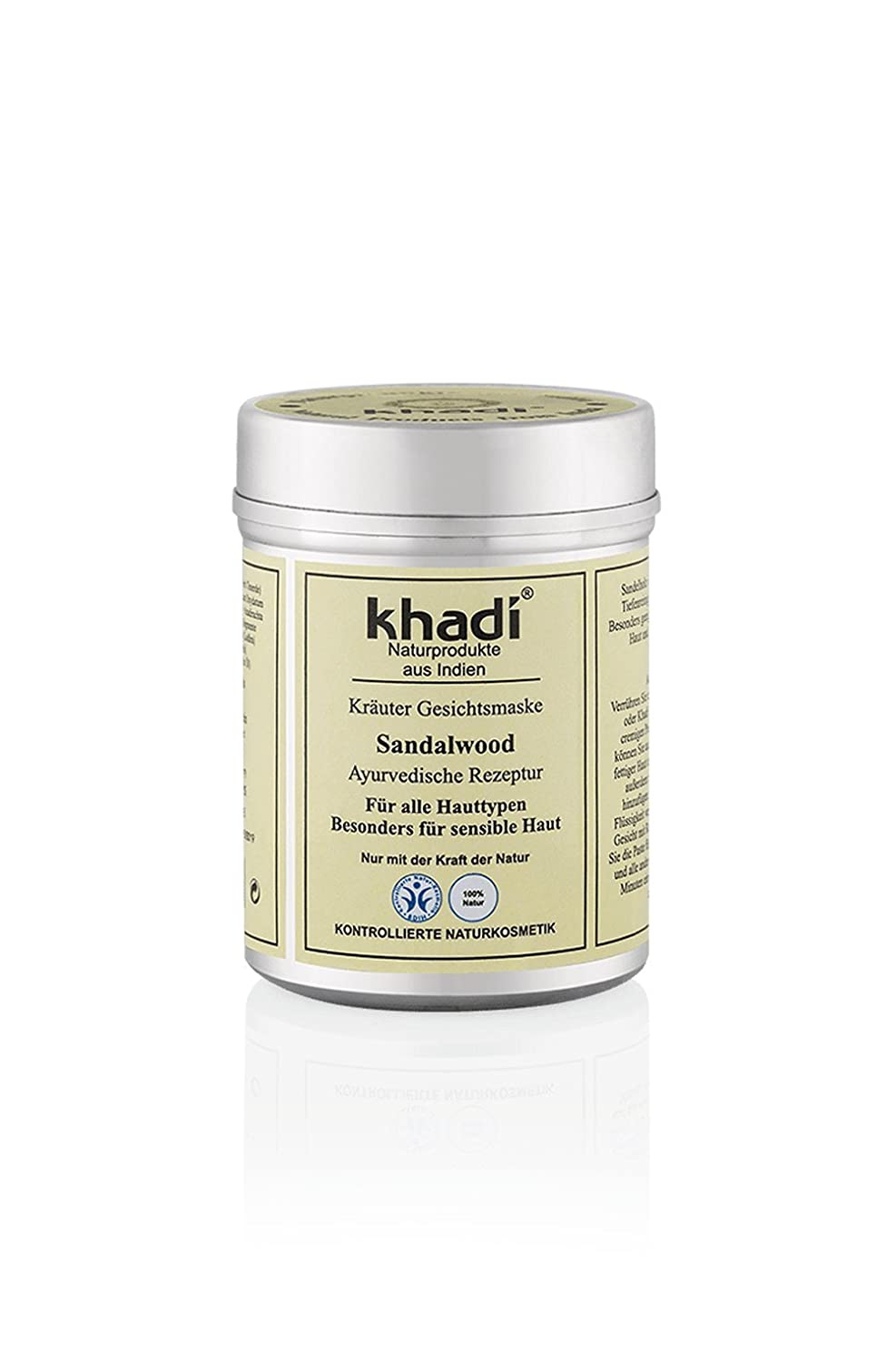 KHADI - Herbal Face Mask - Sandalwood - For Enlarged Pores, Blemishes, Pigmentation & Sunburns 8906020511231