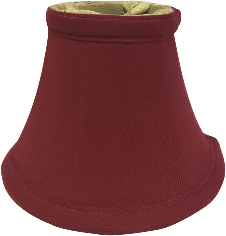 Royal Designs CS-202BUR True Bell Burgundy Chandelier Lamp Shade, Burgundy