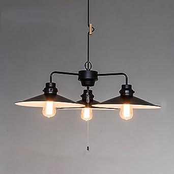 LT Industrielle Kronleuchter Schlafzimmer Esszimmer Küche Café Wohnzimmer  Kronleuchter Moderne Beleuchtung E27 3 Kopf