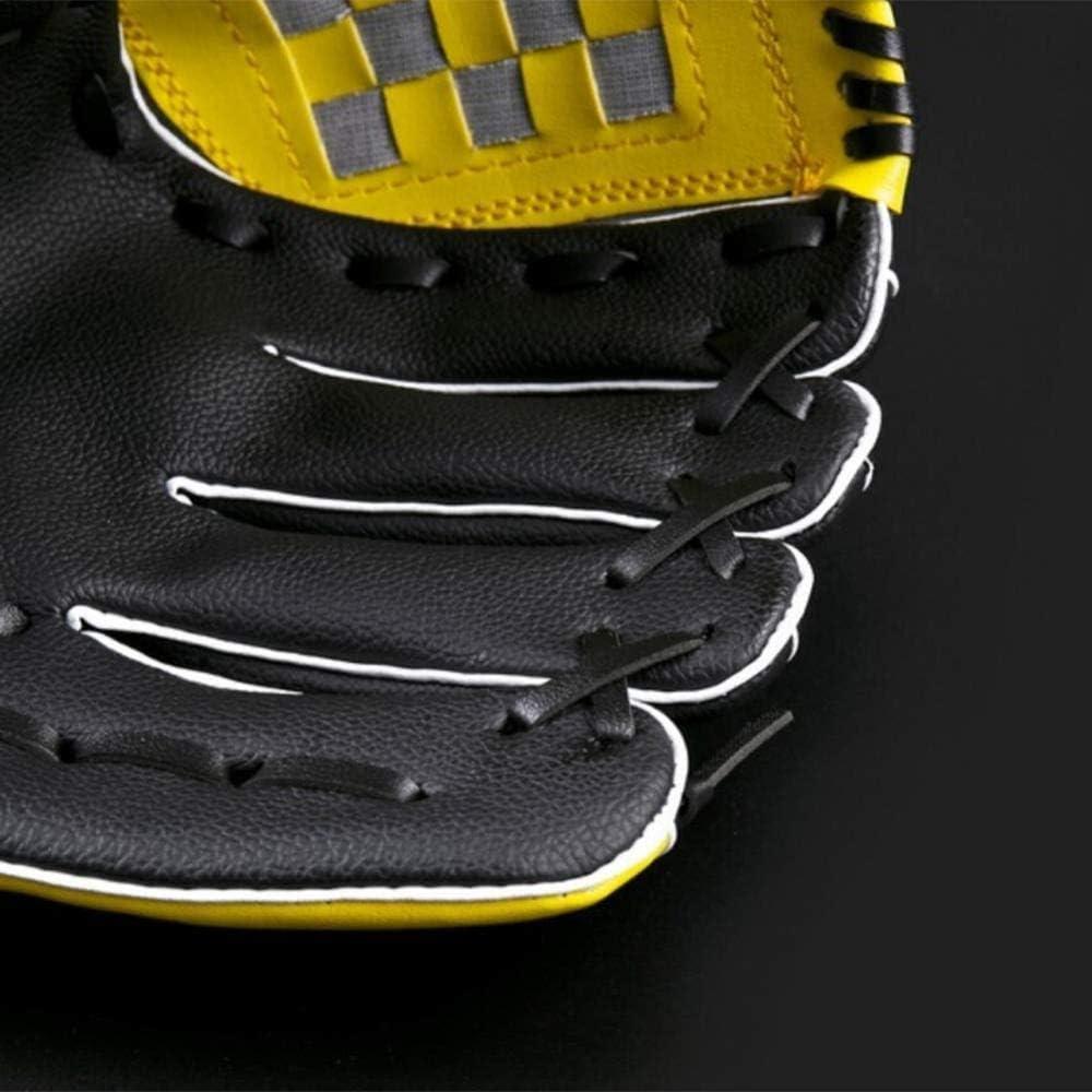 FHCSAO Guante De B/éisbol para Ni/ños,Guantes De Bateo De Deportes para Adultos,Atrapar Softball De B/éisbol para Exteriores,10.5 11.5 12.5 Pulgadas Vacaciones,Yellow-M