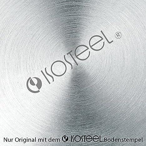 Isosteel 2063828 Pichet Isotherme Tableline 1,0l Acier Inoxydable INOX Argent