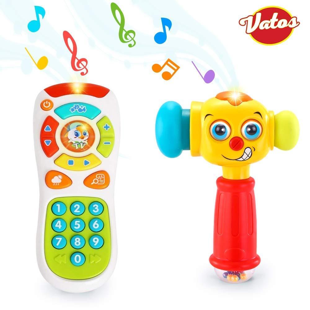 Klicken /& z/ählen Remote Spielzeug f/ür EIN Jahr alt Jungen und M/ädchen nur Englische Aussprache VATOS Baby Fernbedienung Spielzeug Lernen Lichter Fernbedienung f/ür Baby 6 Monate