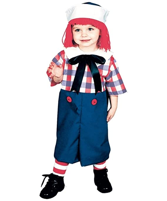 sc 1 st  Amazon.com & Amazon.com: Raggedy Andy Costume - Toddler Costume 2T-4T: Clothing