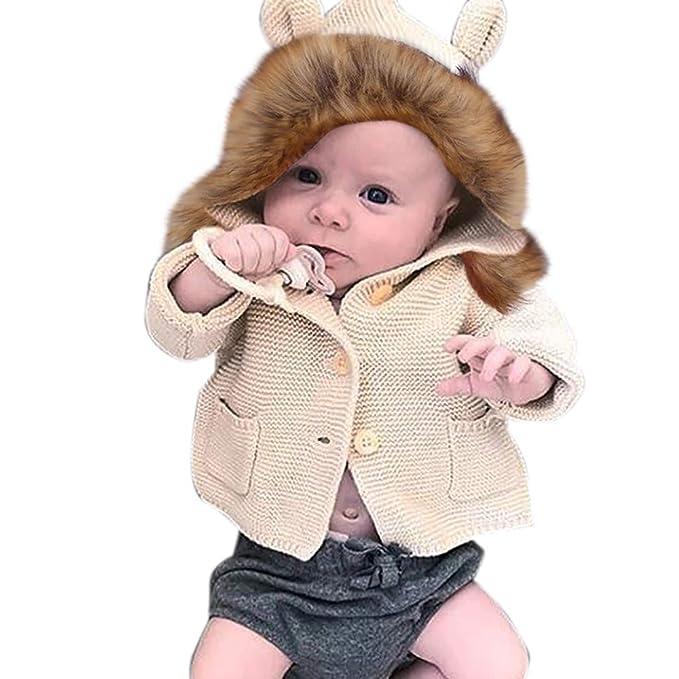 ❤ Tefamore Suéter con Capucha Algodón Grueso para Niños Recien ...