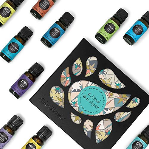 Edens Garden Top 6 Synergy & Top 6 Essential Oils 100% Certified Pure Therapeutic Grade GC/MS Tested ()