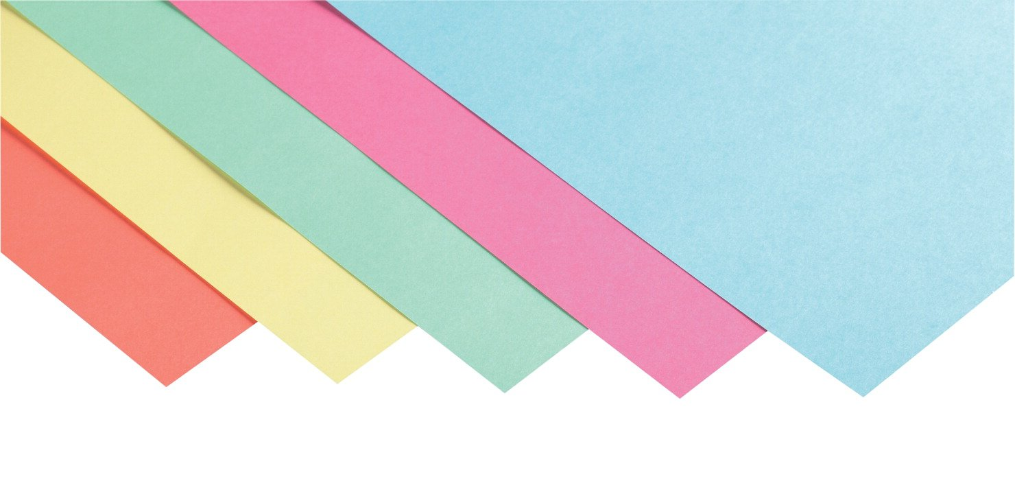 School Smart 100 pound Tagboard Assortment - 12 x 18 inches - Pack of 100 - Assorted Pastel Colors
