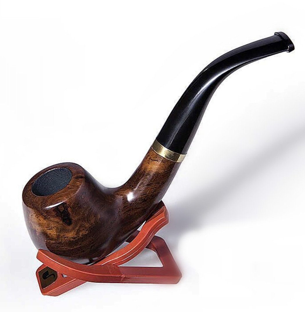 Lobular Ebony Smoking Pipe Elegant Tobacco Pipe With Accessories And Gift Package