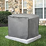 AIR CONDITIONER COVERS Outdoor Air Conditioner Cover - A/C Winter Weather Protector - Square, Gray