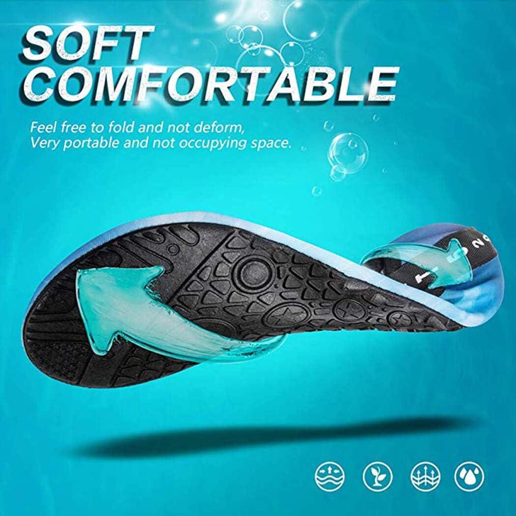 Scarpe da Immersione Donna Uomo Bambini da Scoglio Scarpe da Spiaggia Surf Antiscivolo Rapida Scarpe da Acqua Scarpe da Mare Scarpette da Bagno Barefoot per Nuoto Snorkeling Yoga Scarpe
